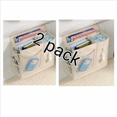 "Bedside Caddy - Sand (2 PACK) (10""h x 5""w x 12.5""d)"