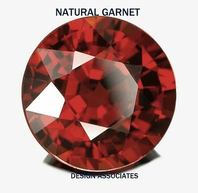9 Mm Round Natural Red Garnet Vvs