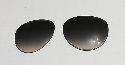 New Tom Ford FT384 56B Edita Smoke Gradient Fade Authentic Replacement Lenses