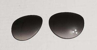 New Tom Ford TF 384 56B Edita Smoke Gradient Fade Authentic Replacement Lenses