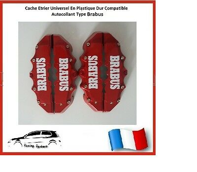 Cache Etrier De Frein Brabus Universel Rouge Tuning Smart Fortwo