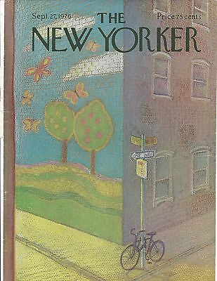 COVER ONLY ~The New Yorker magazine  ~MIHAESCO ~September 27 1976 ~ Bicycle