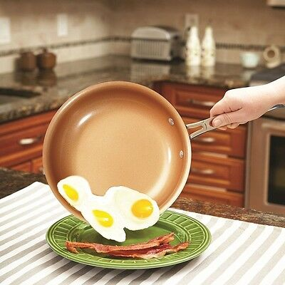 Ceramic Induction Non-Stick Copper Cookware 9.5 Inch Round Frying Skillet Pan