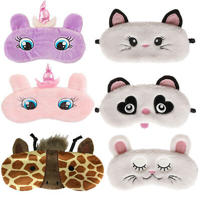 Animal Fluffy Plush Novelty Sleep Eye Mask