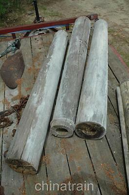 3 Antique Architectural Salvage Round Porch Columns Posts 78""