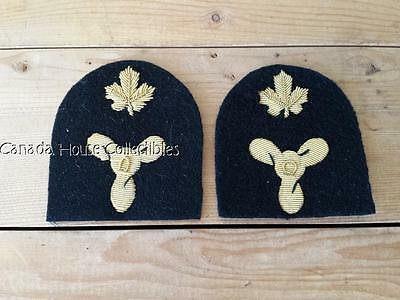 Pair of Vintage Canadian Navy Trade Patch Badges - Electrical Technician