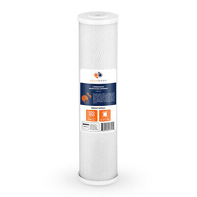 """Big Blue 5µm Coconut Shell Carbon Block Water Filter 20""""x4.5"""" by Aquaboon"""