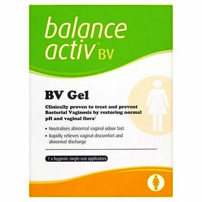 Balance Active Vaginal Gel RESTORES PH 5ml - 7 Tubes **Free Post**