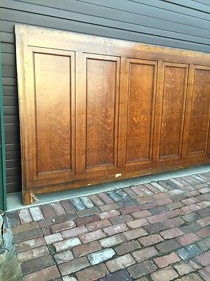 Antique Quartersawn Oak Wainscot Paneling