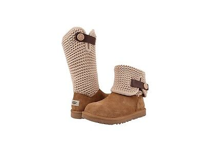 UGG Australia Women's Shaina Suede and Knit 1012534 in Chestnut Sz 6-10 NEW
