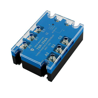 TSR-25AA 80-280VAC to 480VAC 10A Three Phase Solid State Relay Module AC to AC