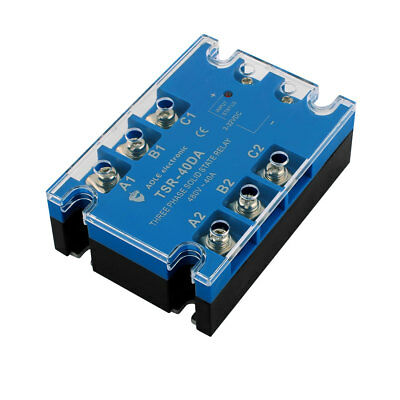 TSR-40DA 3-32VDC to 480VAC 40A Three Phase Solid State Relay Module DC to AC