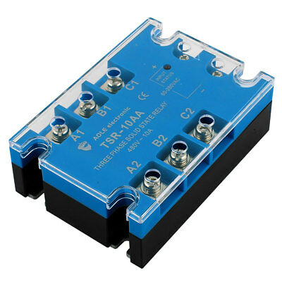 TSR-10AA 80-280VAC to 480VAC 10A Three Phase Solid State Relay Module AC to AC