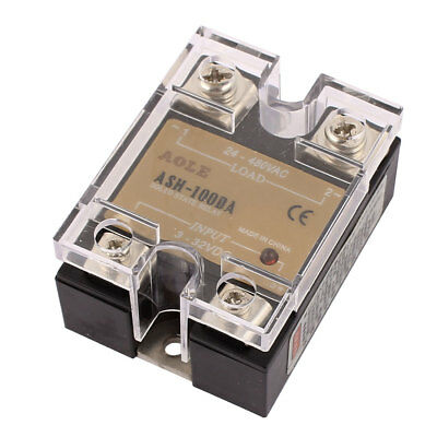 ASH-100DA 3-32VDC to 480VAC 100A Single Phase Solid State DC to AC Relay