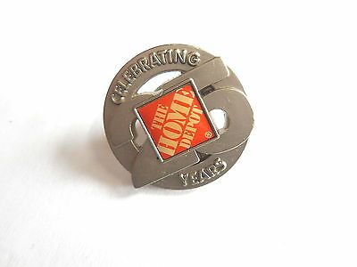 Cool The Home Depot Celebrating 25 Years Anniversary Advertising Pin Pinback