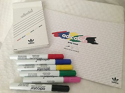 New Adidas Adicolor Paint Pens 6 Lacquer marker and prep book
