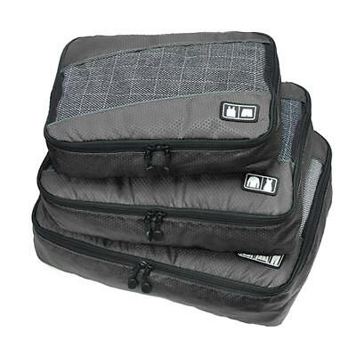 3pcs/set High Quality Packing Cubes Travel Luggage Organizer Bags Gray