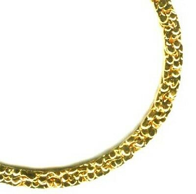 """18"""" Hi-Quality 24kt Gold THICK Plated Chain Ancient Egypt Mycenae Phoenicia Celt"""