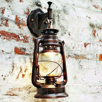 Vintage Industrial Retro Iron Wall Lamp Sconce Chandelier Outdoor Light Fixture