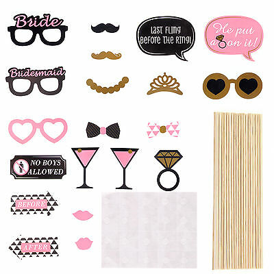 Pack of 20 pcs Hen Party Photo Booth Props Night Out Games Bride Wedding Favors