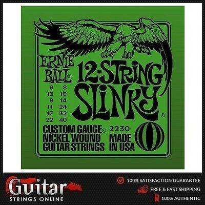Ernie Ball 2230 12-String Slinky Nickel Wound Electric Guitar Strings 8-40 New