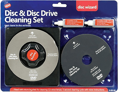 Laser Lens Cleaner Cleaning Kit  PS3 XBOX  BLU RAY DVD PLAYER CD DISCS