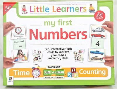 Slide & Learn First Numbers Interactive Flash Cards Time Count Little Learners