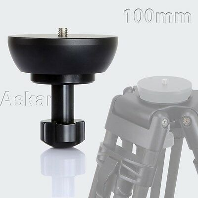ASKAR 100mm Half Ball Flat to Bowl Adapter for Video Tripod Fluid Head DSLR Rig