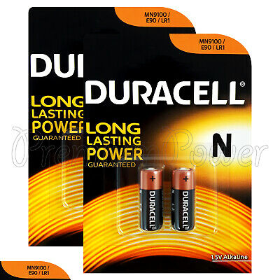 4 x Duracell Alkaline N LR1 1.5V batteries MN9100 E90 AM5 2 in Pack EXP:2020