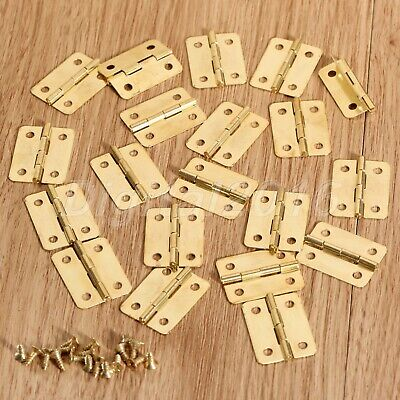 4pcs/20pcs Mini Small Metal Hinges with Nails For Dollhouse Miniature Furniture