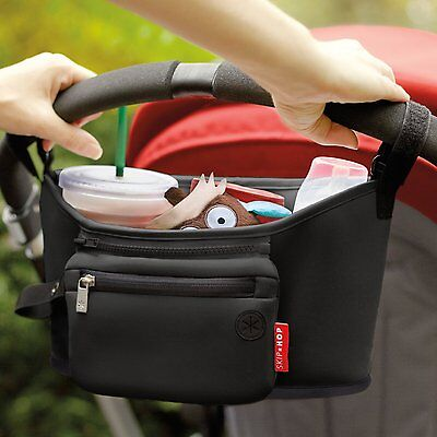 Skip Hop GRAB & GO Buggy/Pram/Stroller Organiser - BLACK (Accessories Holder)