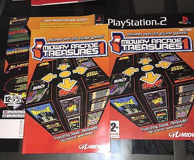 MANUAL And Artwork For Midway Arcade Treasures 1 Ps2 NO GAME DISC INCLUDED