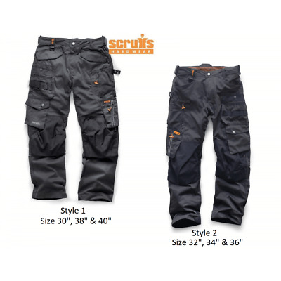 SCRUFFS 3D PRO TROUSERS | Worker Combats Cargo | Cordura Dark Lead | Plus Trade