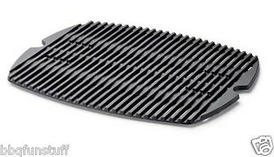 """Weber Q200 Q220 Replacement Cast Iron Cooking Grate 21 3/8"""" x 15 3/8""""  New"""