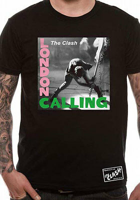 Officially Licensed THE CLASH - LONDON CALLING Music T-Shirt S-XXL