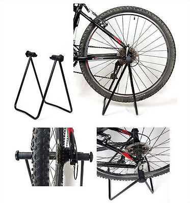 New Folding Bike Floor Storage Rack Stand For Fix Cycle Bicycle Garage Outdoor
