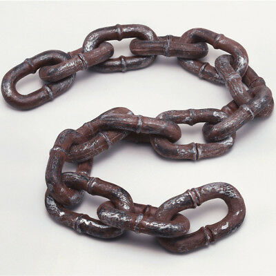 Long Rusty Chain Accessory 6ft Link Brown Decoration Accessory Halloween BN