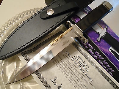 "Gil Hibben Old West Boot Knife Bowie Dagger GH5047 11"" OA Leather Clip Sheath"