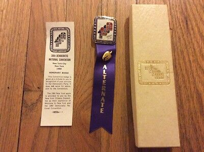 1980 Democratic National Convention Alternate Delegate Badge Pres. Jimmy Carter