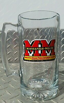 Agco minneapolis moline logo Tractor Glass Beer Mug Stein glass cup brand new