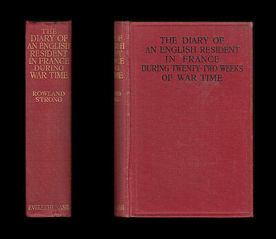1915 DIARY OF ENGLISH RESIDENT IN FRANCE DURING WAR TIME Paris Bordeaux Le Havre