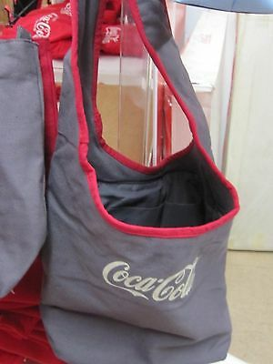 Coca Cola Gray Tote/Bag Oval Shape Handle Strap  - NEW