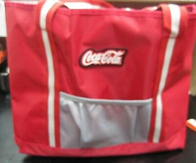 Coca Cola Custom Striped Tote  - New  (0695)