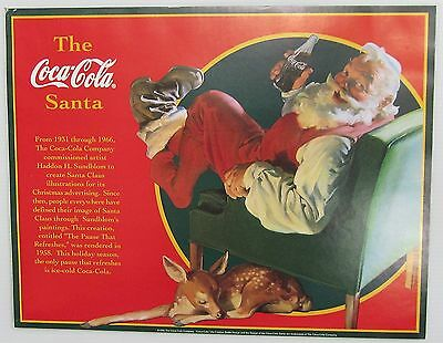 "Lot of 5 Coca-Cola ""The Coca-Cola Santa"" Posters - NEW  FREE SHIPPING"