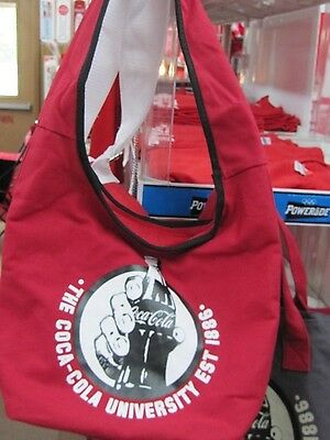 Coca Cola Red Tote/Bag Oval Shape Handle Strap  - NEW
