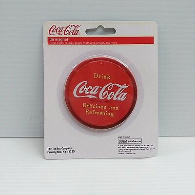 Coca-Cola Tin Embossed Round Magnet - NEW  FREE SHIPPING