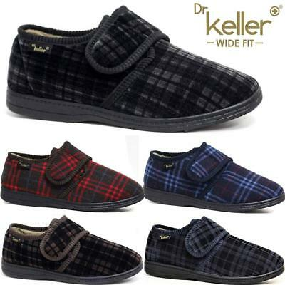 Mens Diabetic Orthopaedic Easy Close Wide Fitting Strap Slippers Shoes Size 6-12