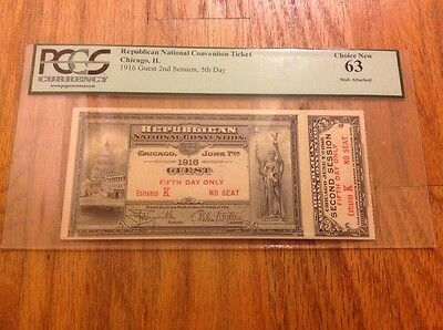 1916 Republican National Convention Ticket Governor Charles Evans Hughes PCGS 63