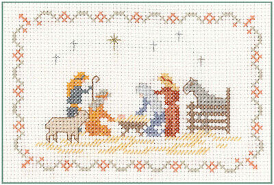 Mini Nativity Sampler - Xmas Cross Stitch Kit on 14 aida - good for beginners