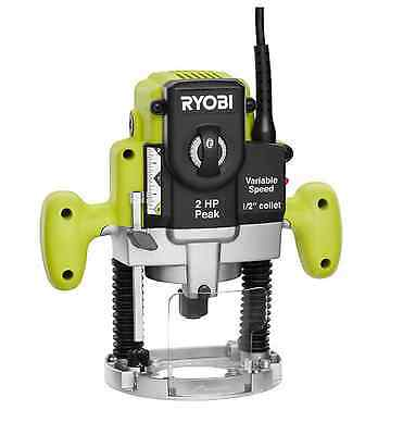 Ryobi 10-Amp 2HP Adjustable Variable Speed Corded Router Plunge Base Power Tool